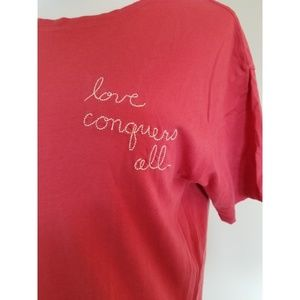 Junk Food Embroidered Wonder Woman Red Love Tee M